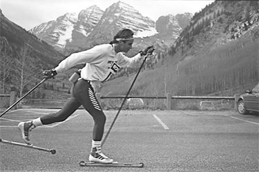 summer roller skiing near maroon bells