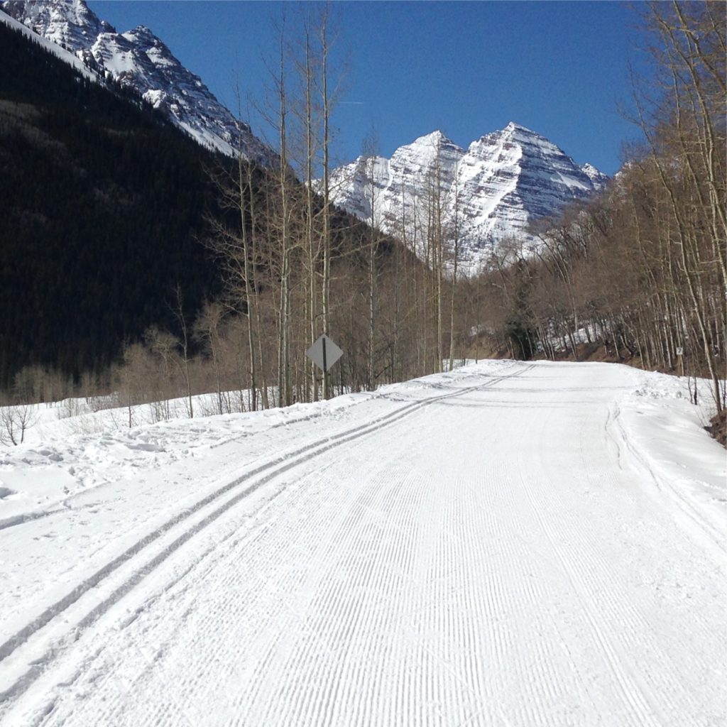 maroon bells, aspen xc skiing, on line xc lessons